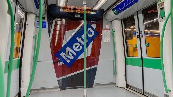 Interior de un vagón del Metro de Madrid