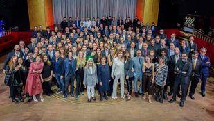 Foto de familia de los nominados a los Premios Goya 2020.