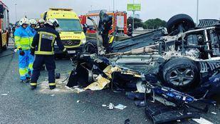 Dos personas han resultado heridas en un accidente en la A-6