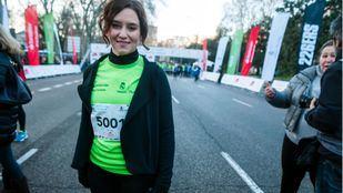 Isabel Díaz Ayuso participa en la carrera solidaria de la Fundación Real Madrid
