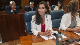 La portavoz en la Asamblea del Grupo Parlamentario Vox, Rocío Monasterio durante una intervención en el Parlamento
