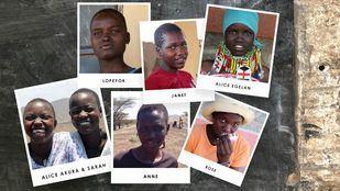 Janet, Lopeyok, Alice Egelan, Anne, Rose, Alice Akura y Sarah, las siete jóvenes turkanas que esperan poder continuar sus estudios