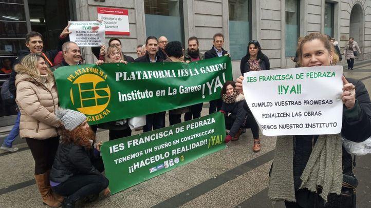Nueva protesta para reclamar el IES Francisca de Pedraza en Alcalá de Henares