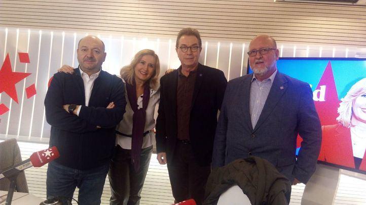 Constantino Mediavilla, Nieves Herrero, Jaime Cedrún (CCOO) y Luis Miguel López Reíllo (UGT) en Com.Permiso