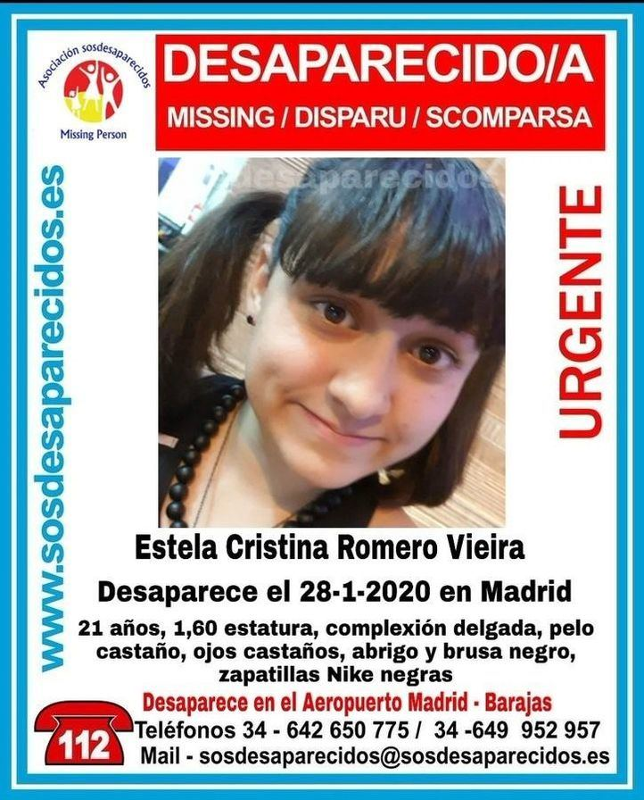 Desaparecida una joven al llegar al aeropuerto de Barajas