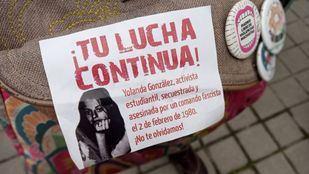 Homenaje a Yolanda González en los jardines que llevan su nombre