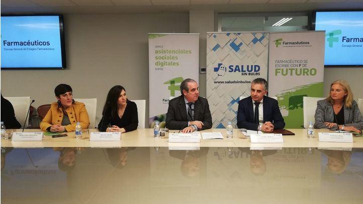 Presentación de la campaña '#MedicamentosSinBulos', impulsada por el Consejo General de Colegios Oficiales de Farmacéuticos (CGCOF) y el Instituto #SaludSinBulos