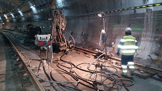 Obras de rehabilitación del túnel de Metro Este