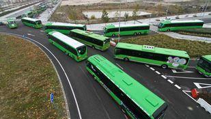 Salida de los autobuses interurbanos