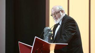 En la imagen, el director José Luis Cuerda durante la entrega de la XXIII Edición de los Premios Goya, el 2 de febrero de 2009.
