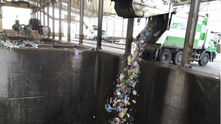 Foso donde se deposita la basura en Valdemingómez