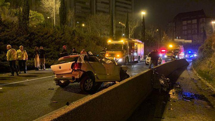 Fallece una mujer tras caer ocho metros por un talud con su coche