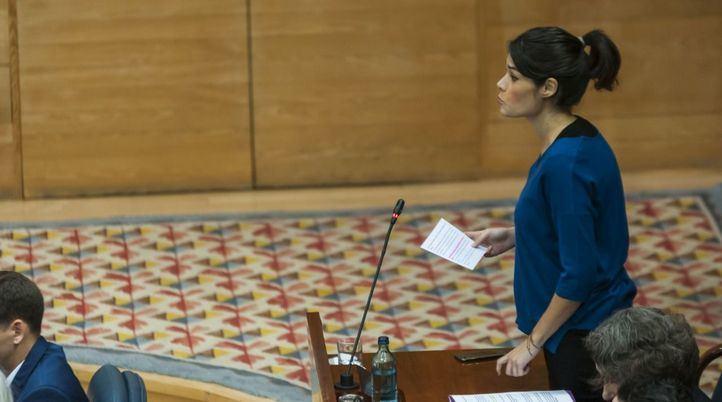 Isa Serra, en la Asamblea de Madrid