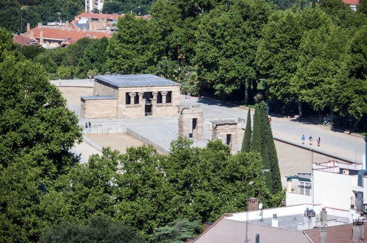 El Ayuntamiento no prioriza la cubierta para el templo de Debod que sí pidió a Carmena