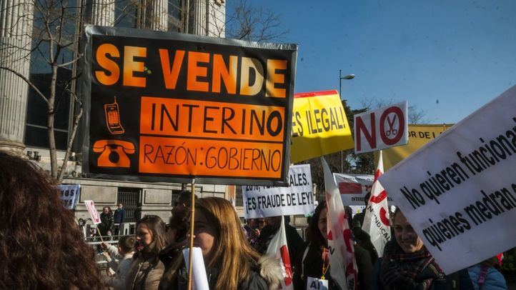 Manifestación de los interinos de toda España
