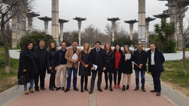 Los portavoces y representantes del PP de municipios del sur de Madrid se han reunido este sábado en Alcorcón