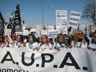 Los autónomos toman Madrid para reivindicar sus derechos como trabajadores