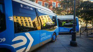 Autobuses eléctricos de la EMT.
