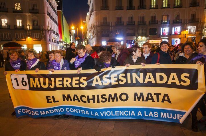 Protesta en Sol contra los 16 asesinatos machistas de 2020
