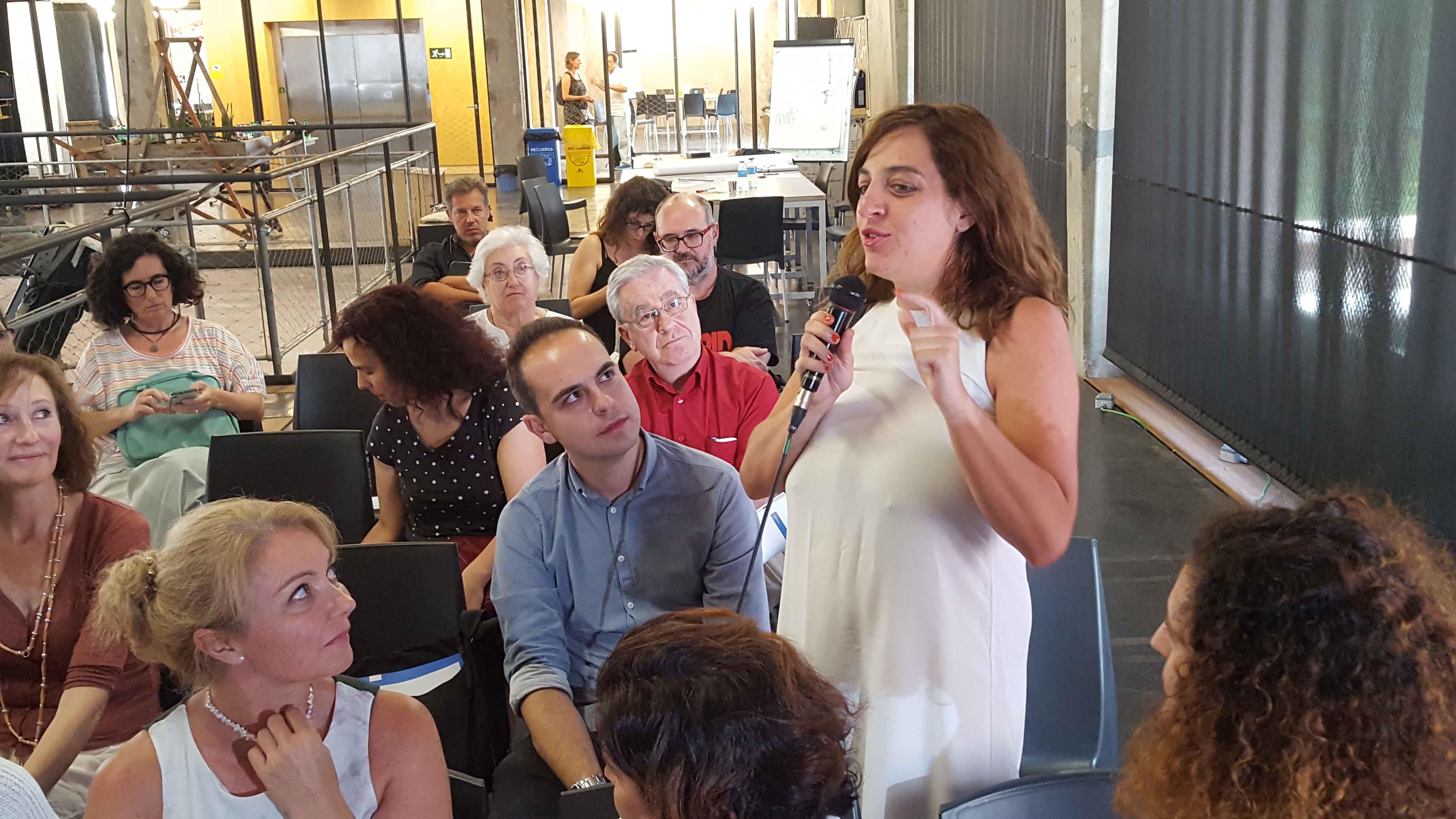 Celia Mayer durante el proceso participativo