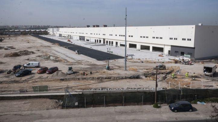 Así avanza la construcción de las naves en la planta logística PAL M-40 de Villaverde.