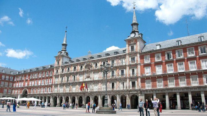 Fachada de la Casa de la Panadería en la madrileña Plaza Mayor