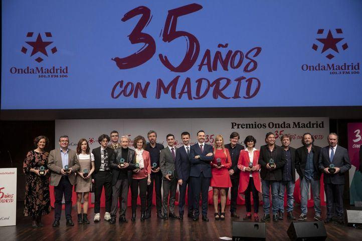 La radio autonómica celebra su 35 aniversario con los Premios Onda Madrid