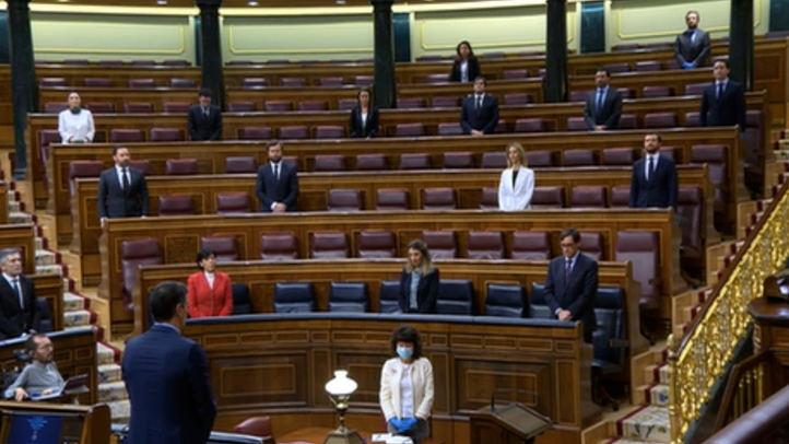 Minuto de silencio en el Congreso de los Diputados