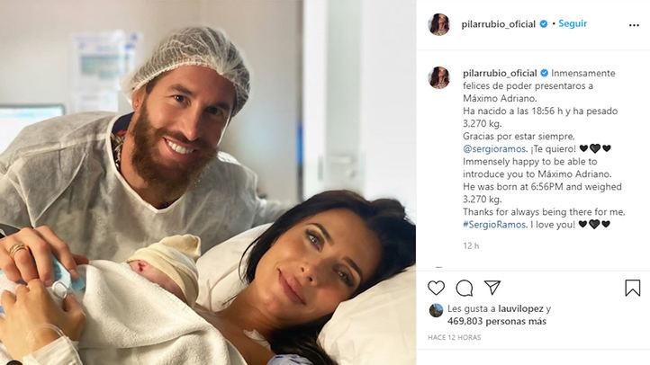 Máximo Adriano, el hijo de Sergio Ramos y Pilar Rubio revoluciona las redes