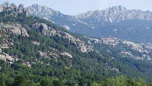 Parque Nacional del Guadarrama, senda de las Formas en La Pedriza, montaña en la que prolifera el granito