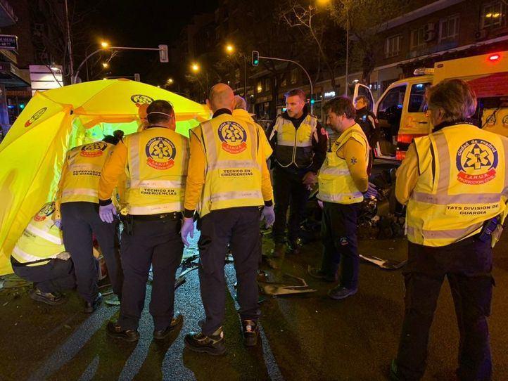 Fallece un motorista de 43 años tras un accidente en la calle Alcalá