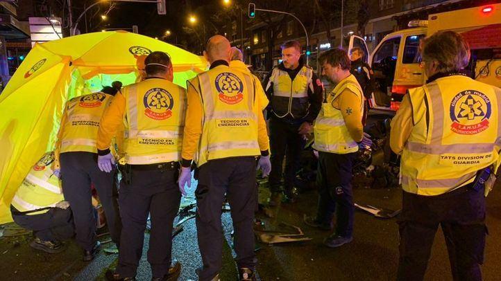 Un motorista de 43 fallece en la calle Alcalá de Madrid tras sufrir un accidente con un turismo que se da a la fuga