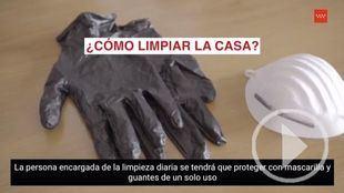 Medidas higiénicas para limpiar el hogar de un enfermo de coronavirus