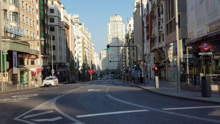 Madrid vacío por el estado de alarma decretado el 14 de marzo