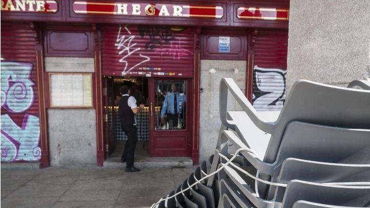 Los negocios hosteleros y de restauración, cerrados.