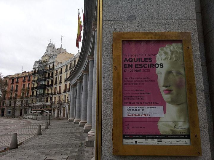El Teatro Real cancela el estreno sin público de 'Aquiles en Esciros'