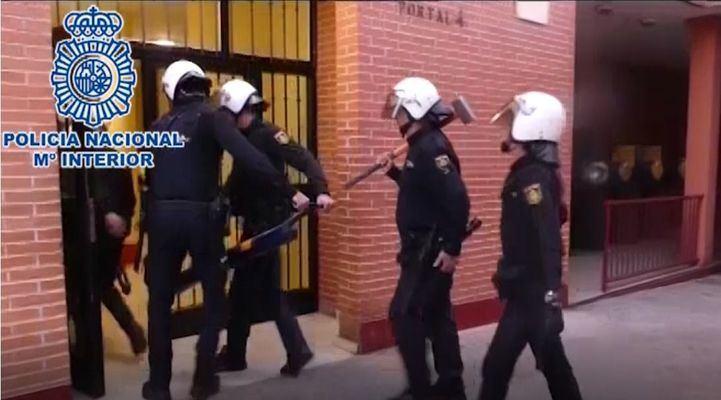 Intervención de la Policía Nacional en Leganés