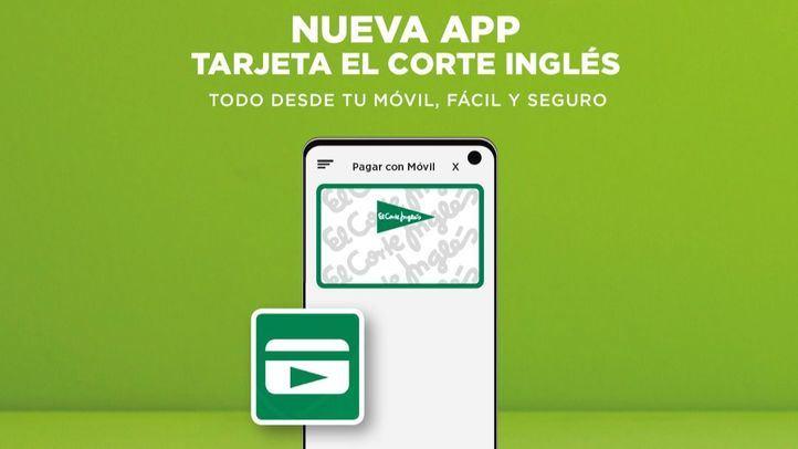 El Corte Inglés lanza una App que permite pagar y gestionar desde el móvil su tarjeta de compra