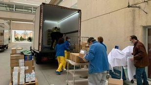 Imagen de los trabajos para acondicionar un hotel medicalizado que acogerá pacientes del Hospital de Fuenlabrada.