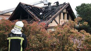Casa incendiada en Manzanares el Real