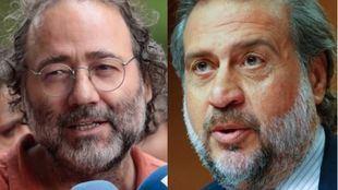 Enrique Villalobos (FRAVM) y Ángel Asensio (Cámara de Comercio)