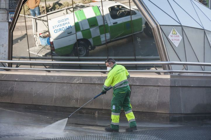 Así ha extremado Madrid sus medidas de limpieza y desinfección