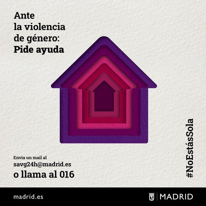 La campaña #NoEstásSola visibiliza el encierro de las víctimas de violencia de género con sus agresores