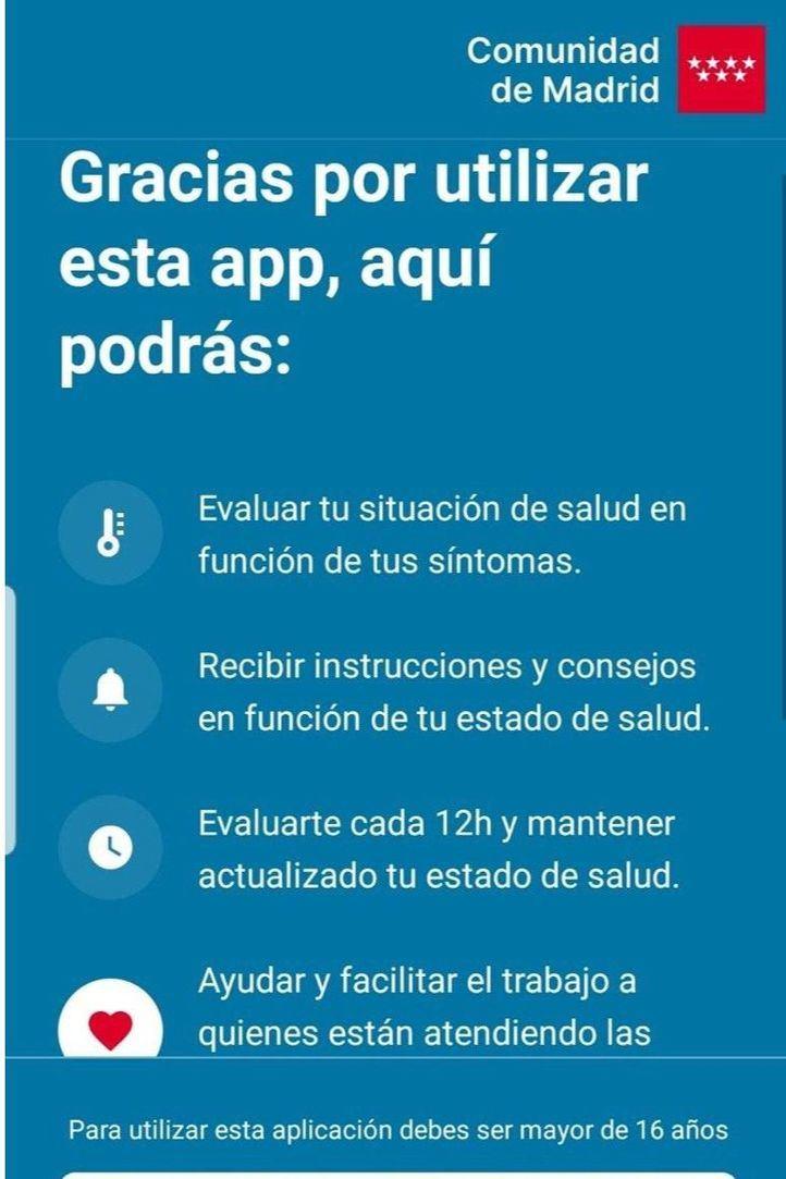 La Comunidad lanza la app Coronamadrid para descongestionar el teléfono de afectados