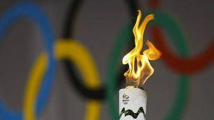 Antorcha oficial de los Juegos Olímpicos de Brasil.