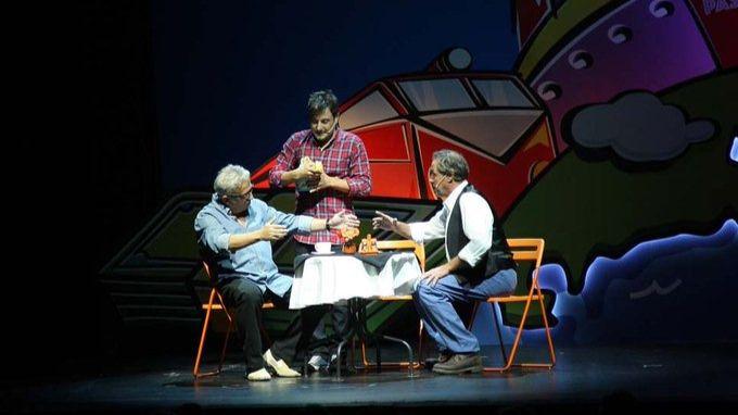 Sinacio, junto a Leo Harlem y Sergio Olalla en el Teatro EDP Gran Vía