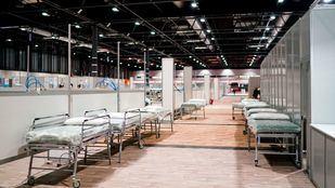 Pabellón 9 de Ifema, habilitado como hospital temporal para enfermos de coronavirus.