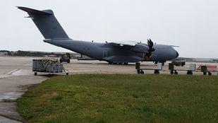 Aterriza en Torrejón el avión militar con material sanitario procedente de China