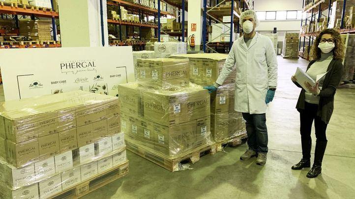 Phergal Laboratorios dona más de 25.000 productos de higiene al hospital de Ifema