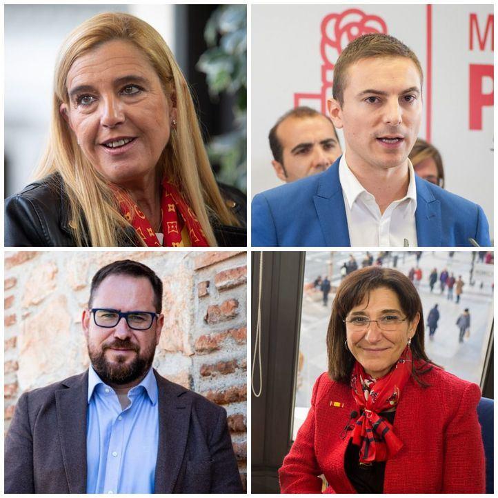 Mariola Vargas (PP), Juan Lobato (PSOE), Jorge Alberto Campos (Cs) y Susana Pérez (PP).